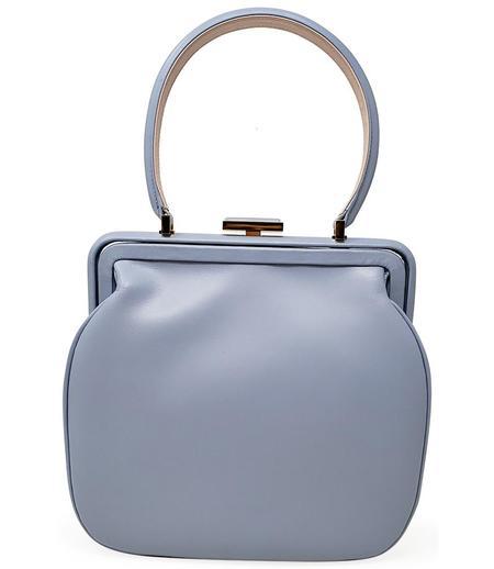 Amato Daniele Plain Leather Handbag - Sky Blue