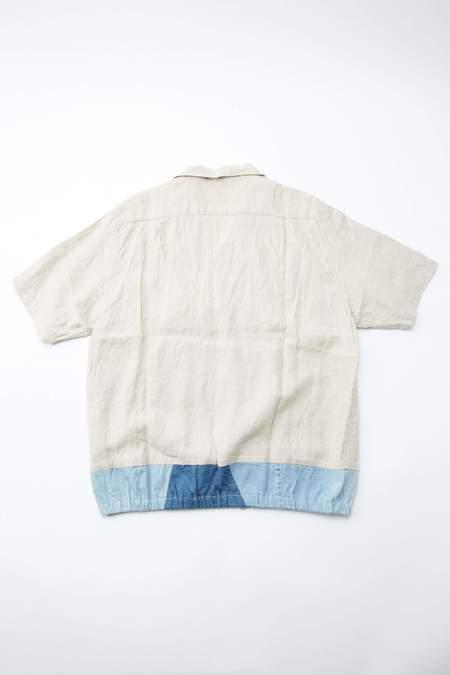 Kapital x KOUNTRY French Cloth Linen/Denim Shirt Jac - Ecru