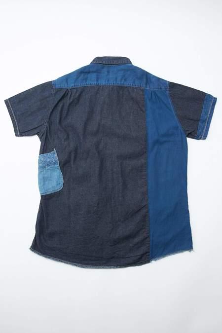 Kapital KOUNTRY IDG Patchwork KATMANDU Shirt - Indigo
