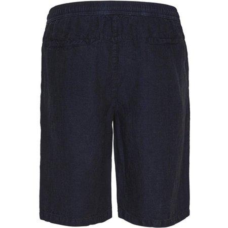 knowledge cotton apparel BIRCH loose linen shorts vegan - navy