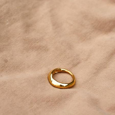 Rauw Jewelry Forged by the Ocean Pinky Ring - 24k gold
