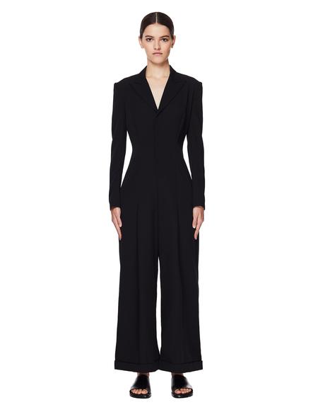 Yohji Yamamoto Black Wool Jumpsuit