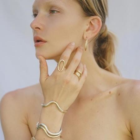 Amanda Hunt Flow Cuff - Bronze