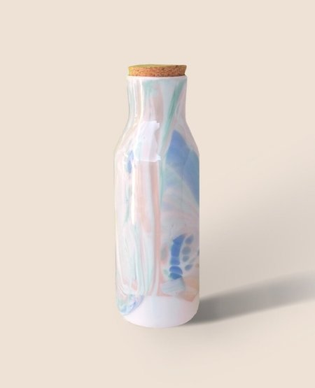 REX DESIGN Multi Swirl Marble Bottle