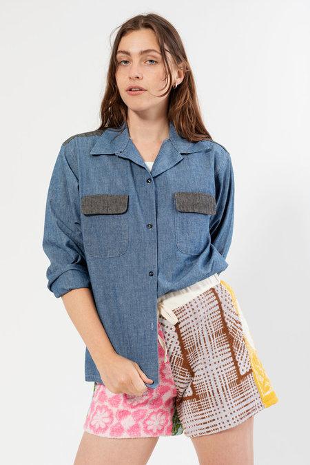 Carleen Louis Chambray Shirt - Midnight