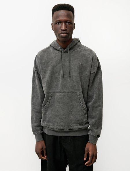 Evan Kinori Hooded Sweatshirt in Hemp Cotton - Black