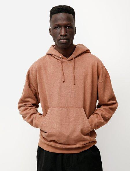 Evan Kinori Hooded Sweatshirt in Hemp Cotton - Ochre