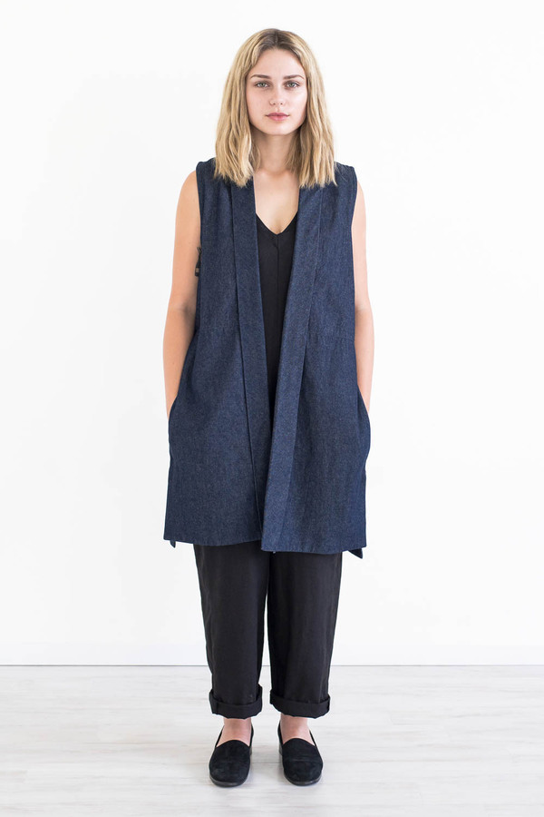 REIFhaus Alba Vest in Indigo Denim