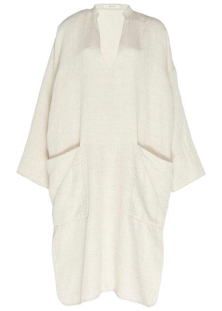 ÁERON Pam deep V-neck dress - white sand