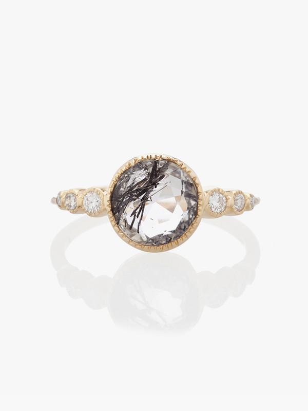 Vale Aurora Ring with Tourmalinated Quartz