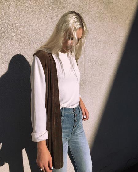 Kaleidos Vintage Olive Open Vest