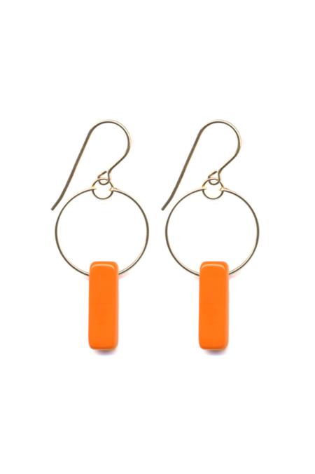 I. Ronni Kappos Bar Hoops - Orange