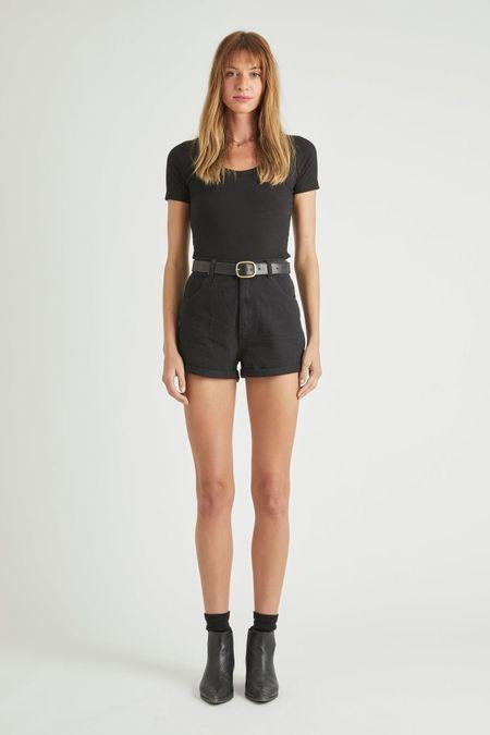 Rollas Rolla's Dusters Shorts in Black Dust