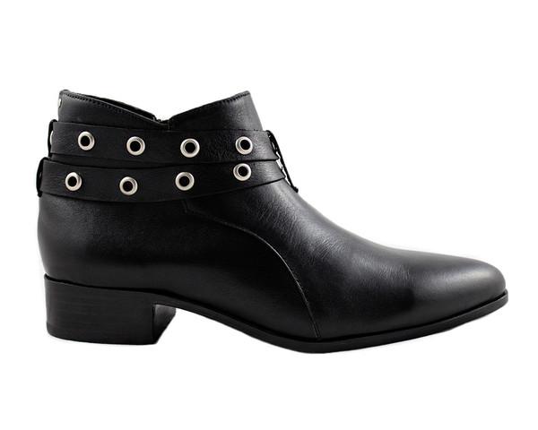 Cartel Footwear AW16 Double Strap Bootie - Salto Black Leather