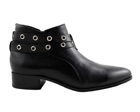 Cartel Footwear AW16 Double Strap Bootie - Salto Black Leather