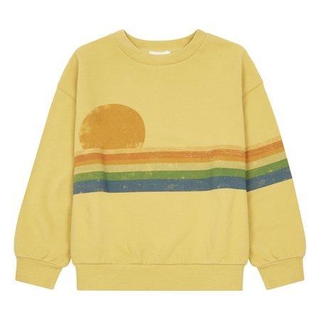 kids hundred pieces sunset people sweatshirt - yellow