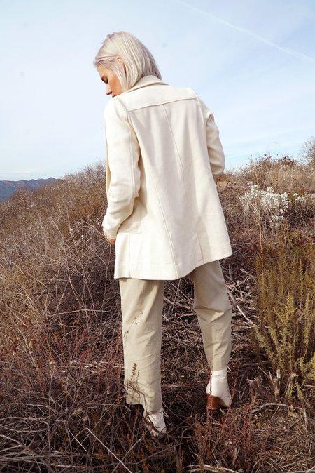 Jess Meany Sashiko Long Susan Blazer - Ivory
