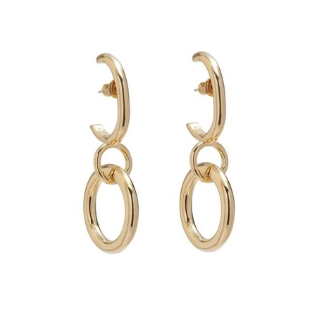 Lady Grey Latch Earring - 14K Gold Plated Bronze