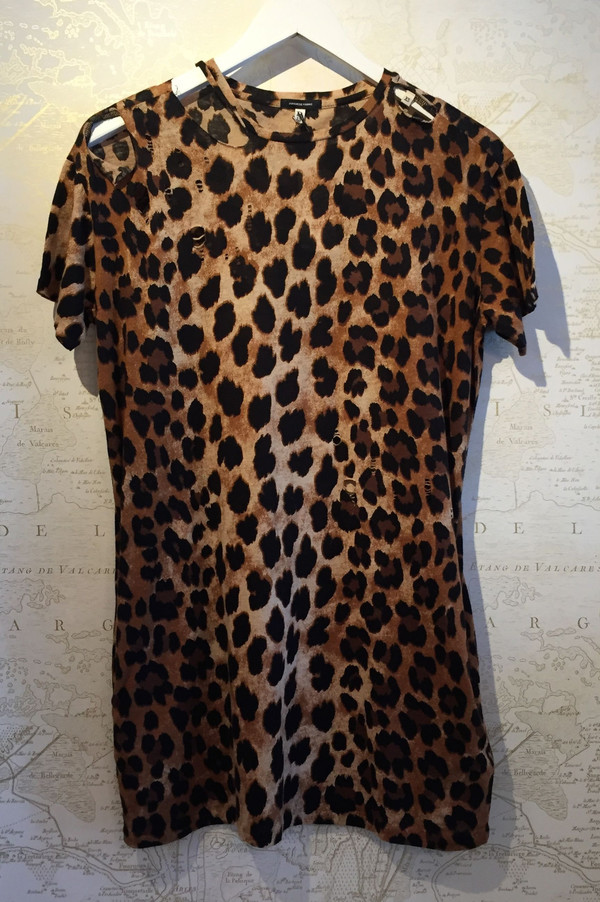 R13 Distressed leopard dress