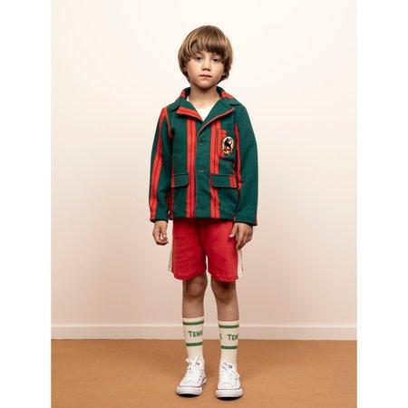kids mini rodini stripe sweat blazer - green