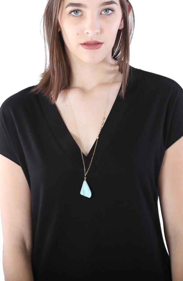 Pearl & Peruvian Opal Necklace