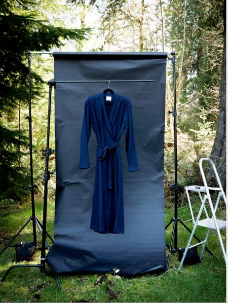 Nahanni Arntzen Linen Robe dress - Midnight