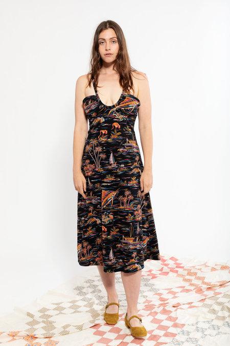 Carleen Halter Dress - Night Paradise