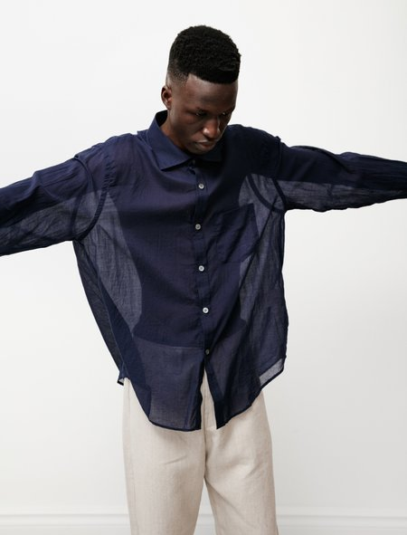 Our Legacy Cut Away Shirt - Indigo Blue