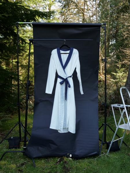Nahanni Arntzen Robe dress - white/navy