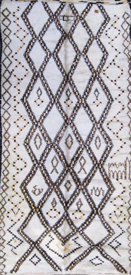 vintage Moroccan Beni Ourain Wool Rug