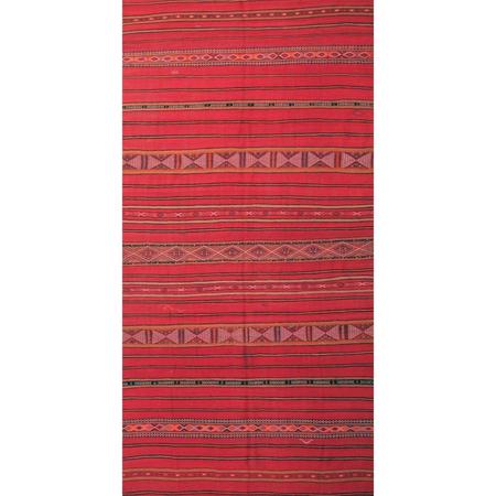 Vintage Moroccan Wool Kilim Rug - red