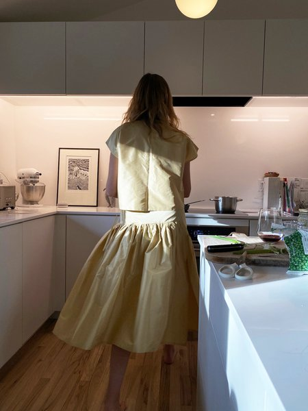 Chelsea Mak Garden Skirt - Gold