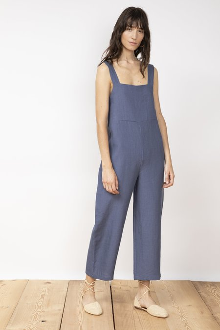 Jungle Folk Juanita linen jumpsuit - pilot blue