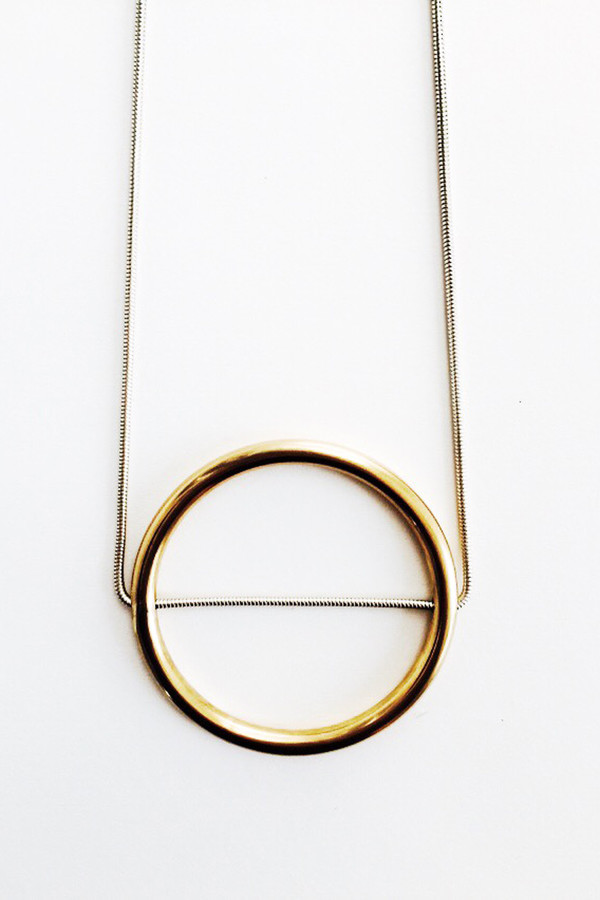 The Things We Keep Ichi large necklace in brass and sterling silver