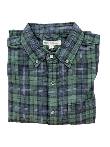 Alex Mill Double Gauze Plaid Button Down Shirt - Green/Blue