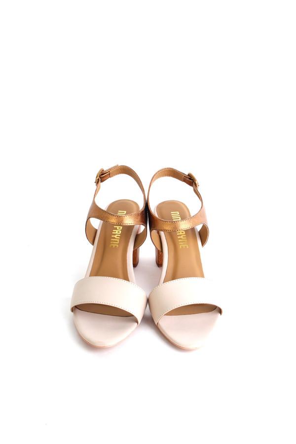 Nina Payne Leonor sandal in cream/bronze