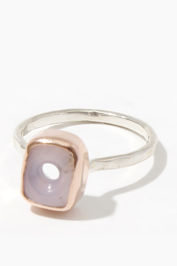 Melissa Joy Manning Limited edition lavender chalcedony ring