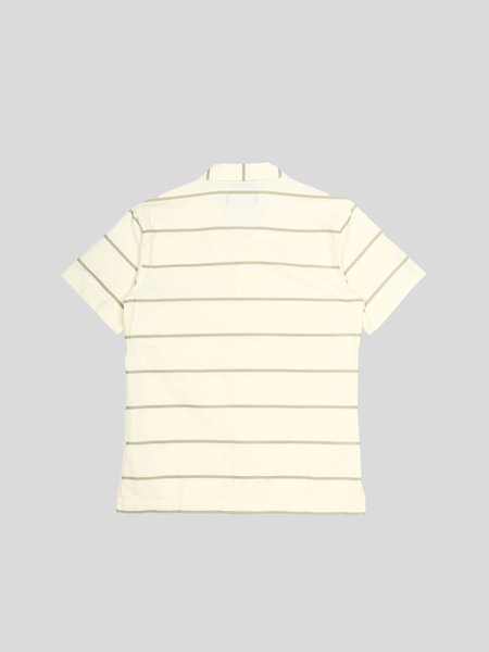 Wings+Horns Woven Cotton Oxford Striped Deck Shirt - Moss Stripe