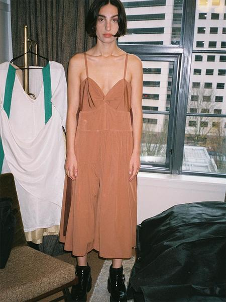 Chelsea Mak Brea Dress - Brick