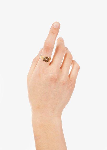 Wolf Circus Gold Rosie Signet Ring - 14k gold