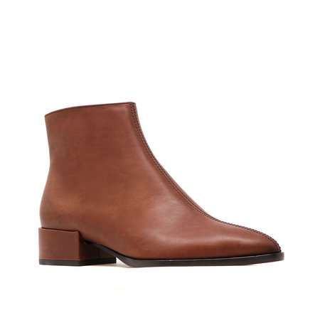 Sylven New York calf leather CASSIDY boot - chestnut