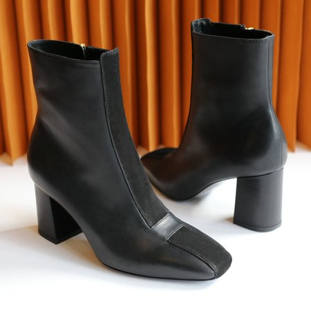 Sylven New York Jayne Calf Leather Suede Boots - Black