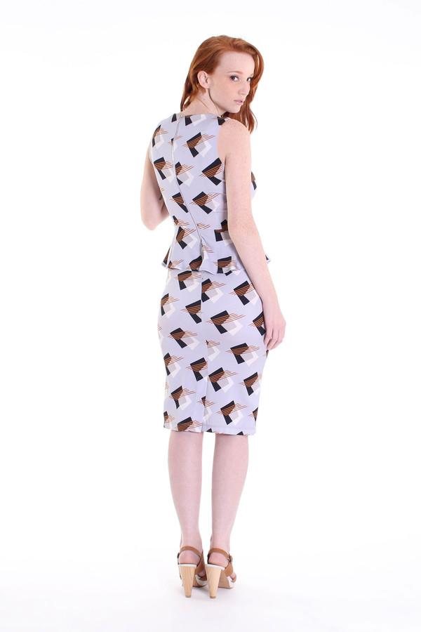 Suno Ruffle waist pencil dress in lilac