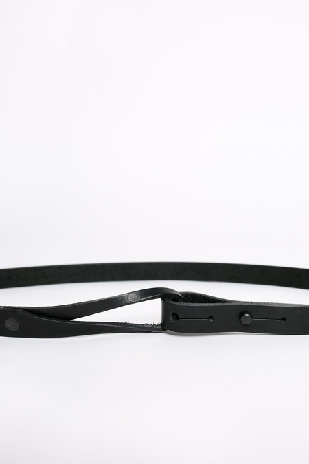 Map of Days Skinny loop belt - black