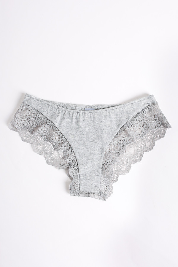 Only Hearts So fine hipster with lace back in heather grey