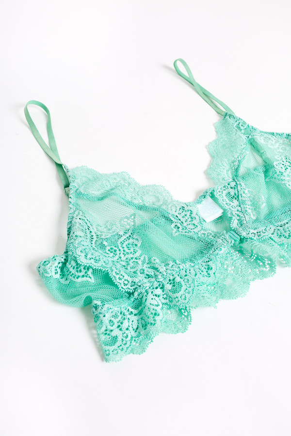 Only Hearts So fine lace bralette in minty