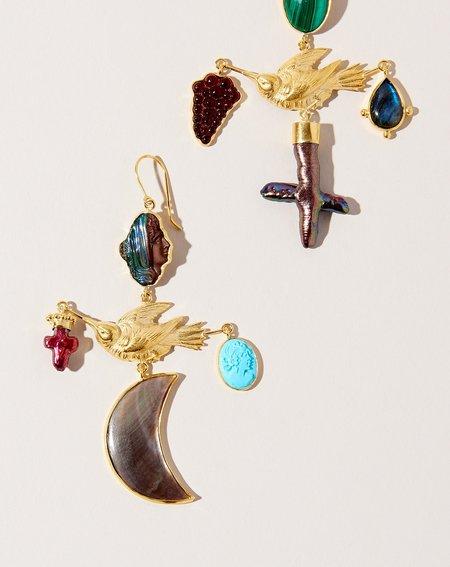 Grainne Morton Bird Cross Drop Earrings II