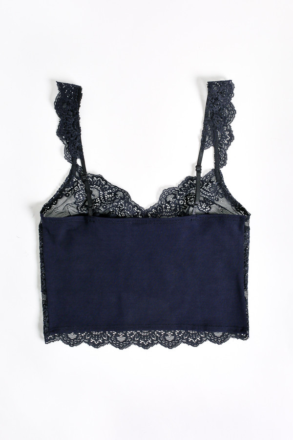 Only Hearts So fine lace cropped cami in navy