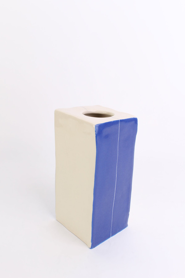 BTW Ceramics Tall square vase