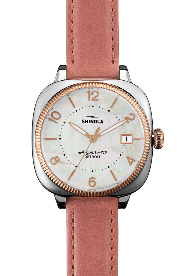 The Gomelsky 36mm watch in mother of pearl & orchid
